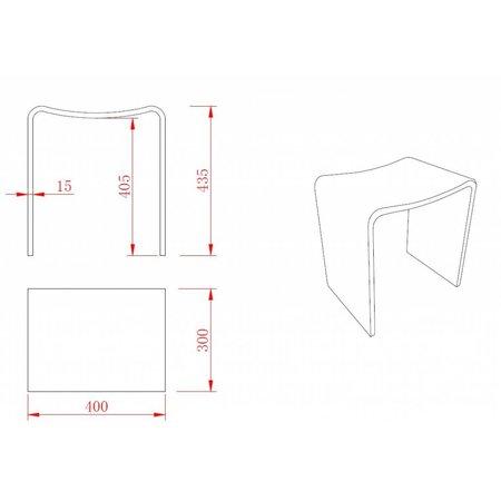 Solid Surface kruk 40x30x42.5