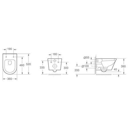 Design wandcloset soft close