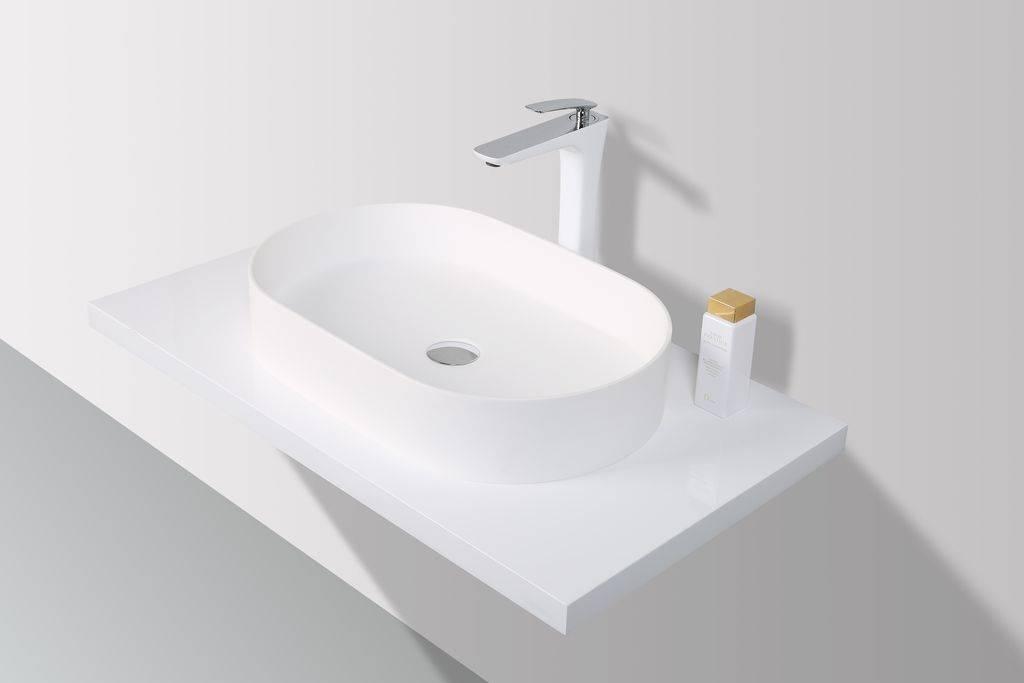 Inloopdouche Met Opzetwastafel : Rheiner design slim opzetwastafel solid surface cm
