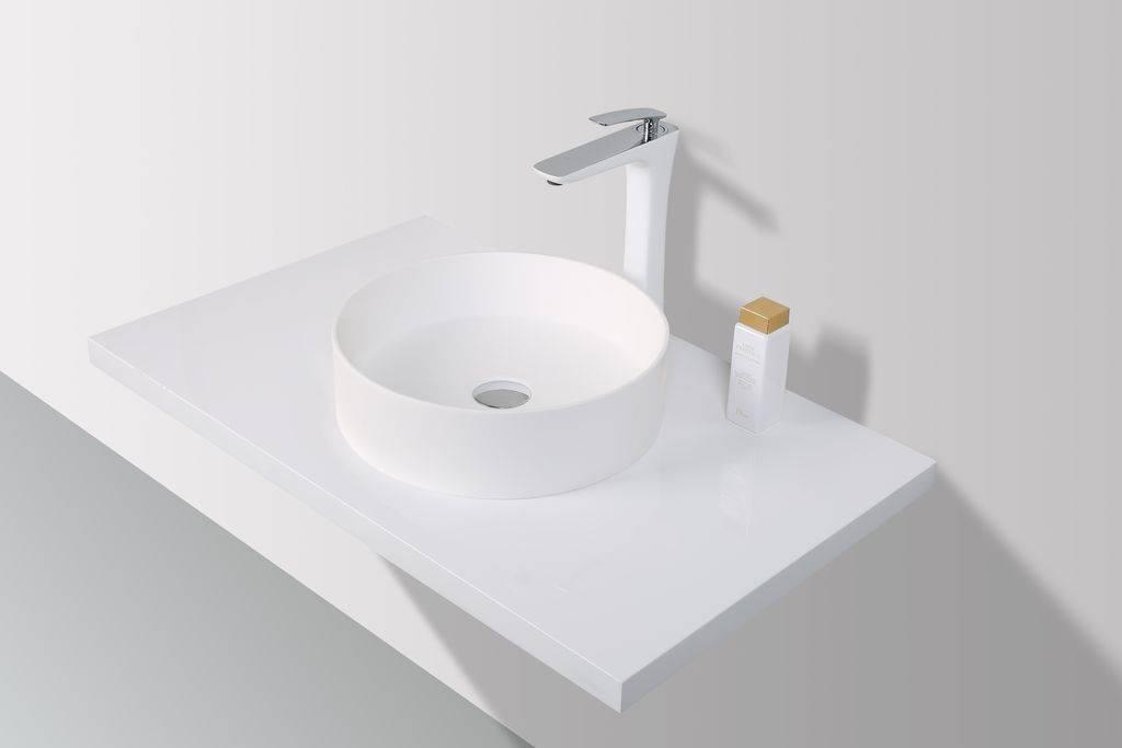 Rheiner �Opzetwastafel Solid Surface 38 x 38 x 11 cm - rond