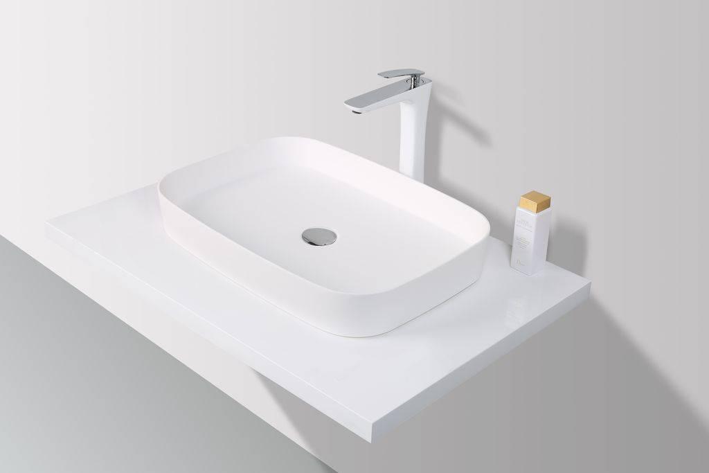 Rheiner Design Opzetwastafel Solid Surface 60 x 42 x 10 cm
