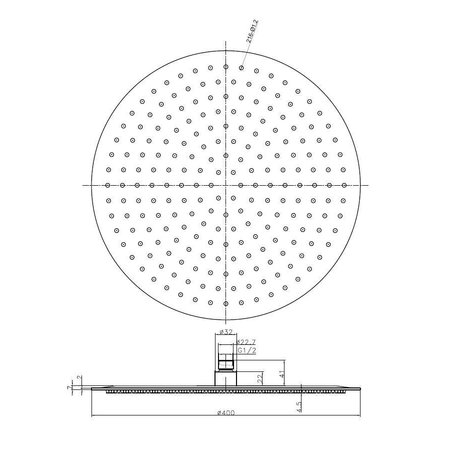 Wiesbaden RVS regendouche 40 cm - cirkel