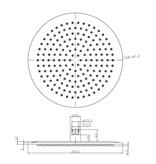 Wiesbaden RVS regendouche 30 cm - Cirkel