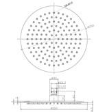 Rheiner RVS regendouche - hoofddouche 25 cm