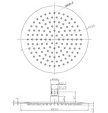 Wiesbaden RVS Regendouche 25 cm - Cirkel