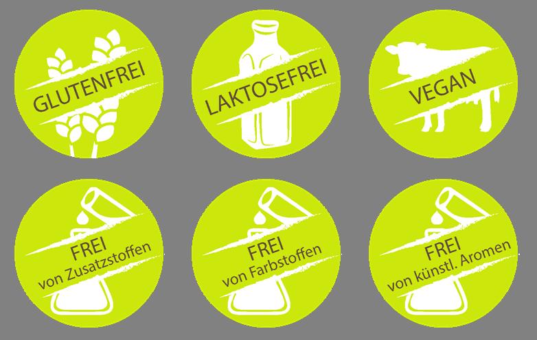Hochwertige Nahrungsergänzungsmittel: Glutenfrei, Laktosefrei, Vegan, Frei von Zusatzstoffen, Frei von Farbstoffen, Frei von künstlichen Aromen