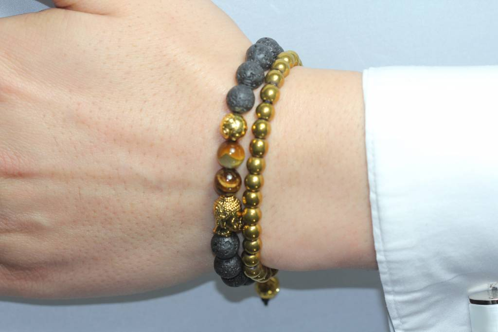 Wristbehavior Golden Buddha bracelet