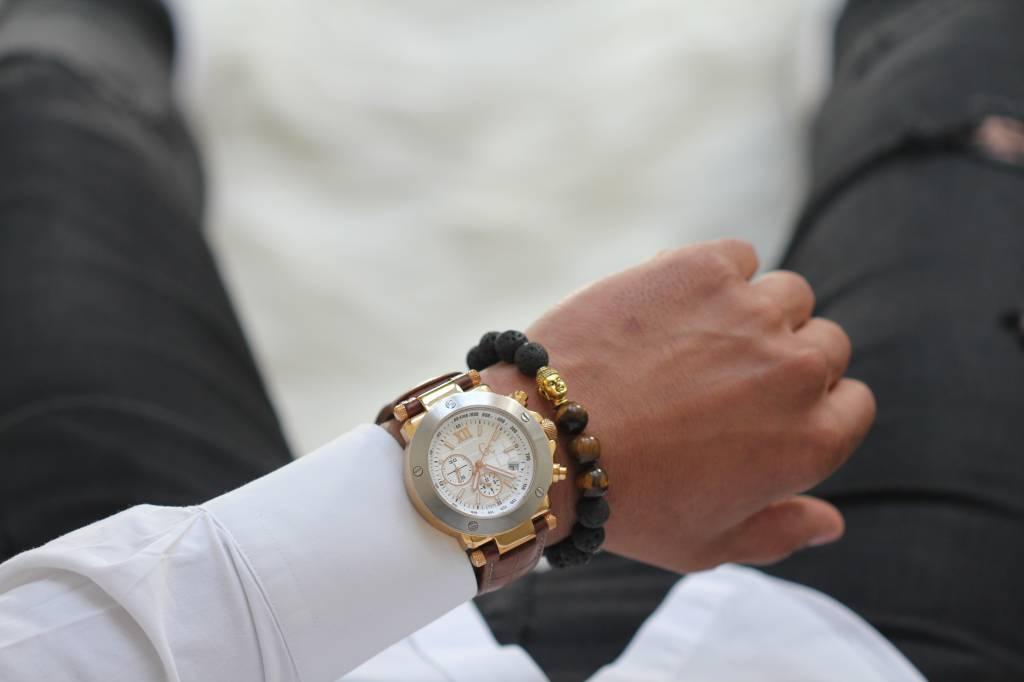 Wristbehavior Lava Tiger eye armband