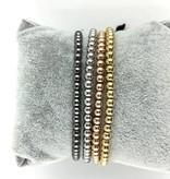 Wristbehavior trendy heren Wrist Behavior Macrame Gold armband