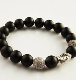 Wristbehavior Crystal Black Boeddha