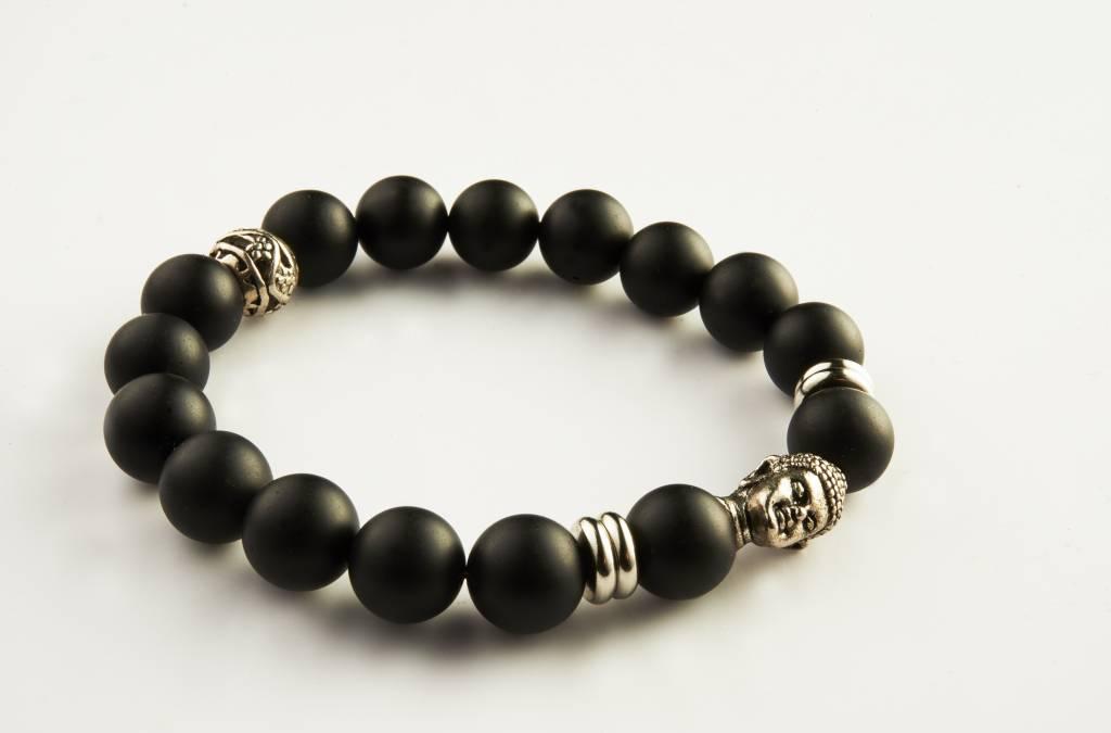 Wristbehavior Lucky Black Buddha braclet