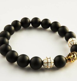 Wristbehavior Golden Black Buddha