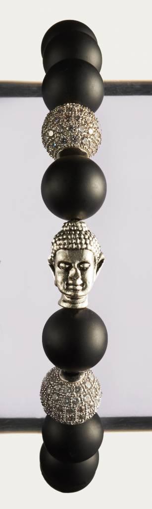 Wristbehavior Crystal Black Buddha bracelet