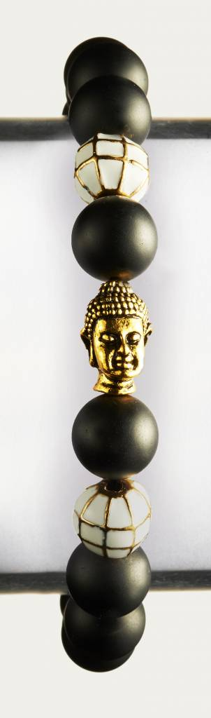 Wristbehavior Golden Black Boeddha armband