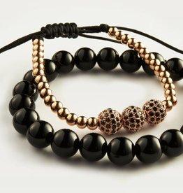 Wristbehavior Wrist Behavior 18K Rose Gold III Beads Diamond set