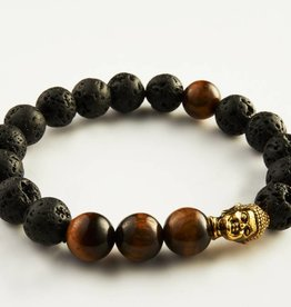 Wristbehavior Lava Tiger eye