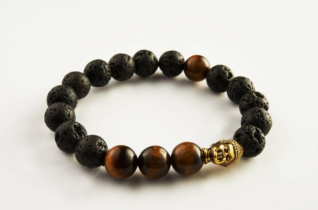 Wristbehavior Lava Tiger Eye bracelet
