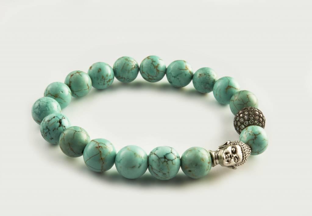 Wristbehavior Crystal Turquoise Boeddha