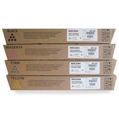 Ricoh Afficio MP C2500E MP C3000E black cyan magenta en yellow tonerset