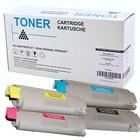 Set 4x compatibel Toner voor Oki C831 C841 black cyan yellow magenta