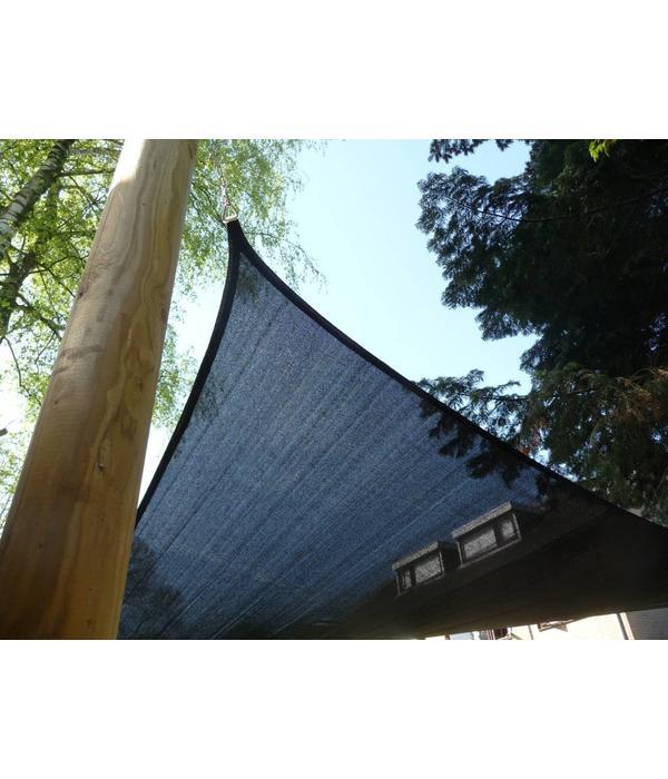 Rond cylindrisch gefreesde houten paal (geïmpregneerd)