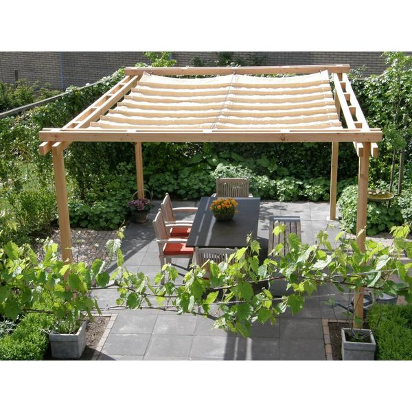 pergola incl. wavesail 2,90 x 3,00 mtr. Waterdoorlatend