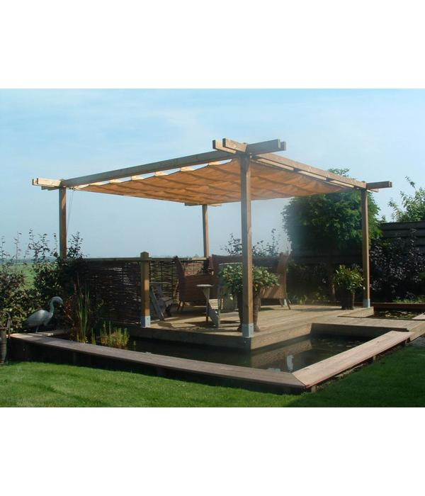 Shadowz pergola incl. wavesail 2,90 x 4,00 mtr. Waterdoorlatend