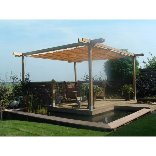 pergola incl. wavesail 2,90 x 5,00 mtr. Waterdoorlatend