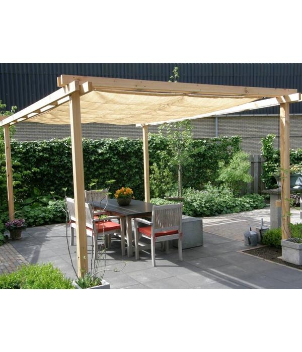 Shadowz pergola incl. wavesail 2,90 x 5,00 mtr. Waterdoorlatend