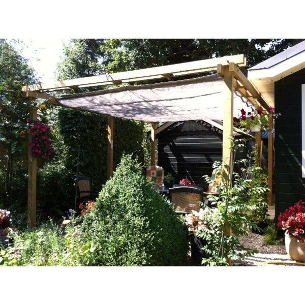 pergola incl. wavesail 2,90 x 4,00 mtr. Waterdicht