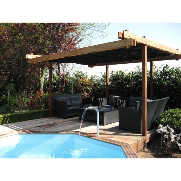 pergola incl. wavesail 2,90 x 5,00 mtr. Waterdicht