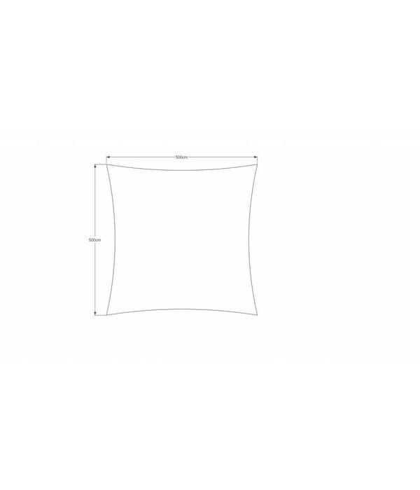 Sunfighter Waterdicht schaduwdoek 500x500. Kleur: Ivoor