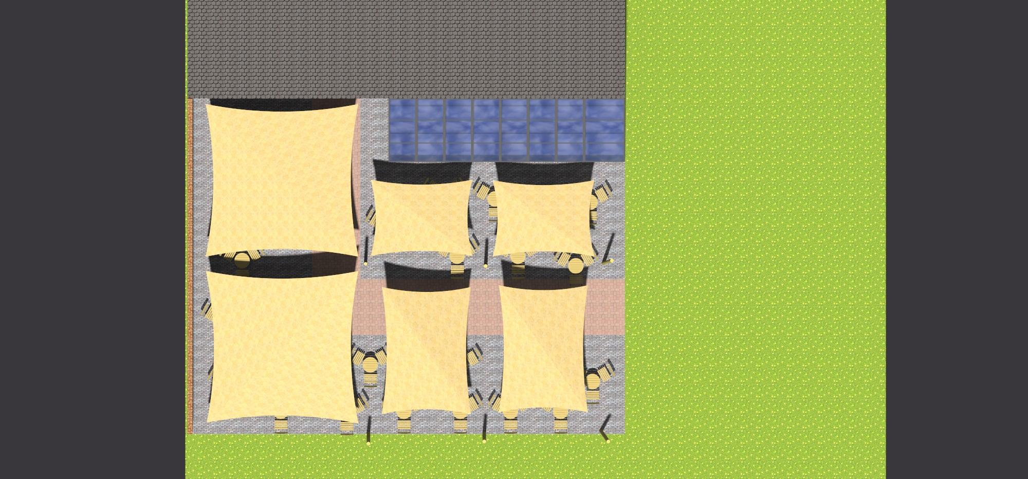 Schaduwdoeken - Kasteelhoeve Geldrop