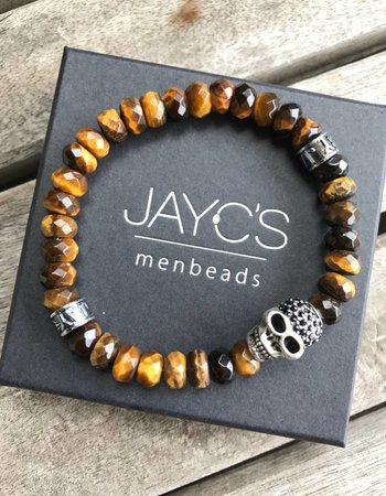 JayC's Heren armband Drilled