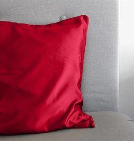 Sleeptime Kussensloop Rood Glanssatijn