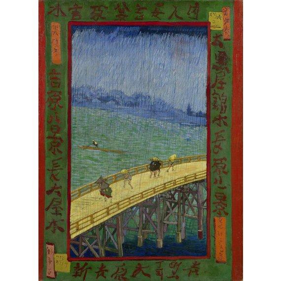 Bridge in the Rain (after Hiroshige)