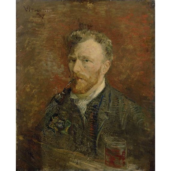Self-Portrait with Glass