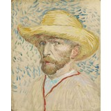 Self-Portrait with Straw Hat