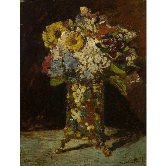 Vase with Flowers - Card / A4 reproduction