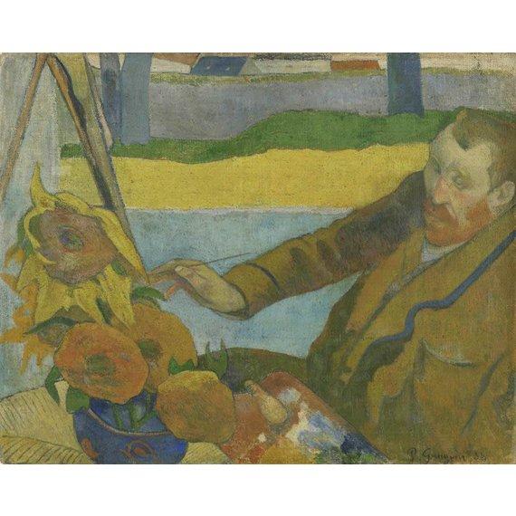 Vincent van Gogh Painting Sunflowers - Multimedia / Film / Video