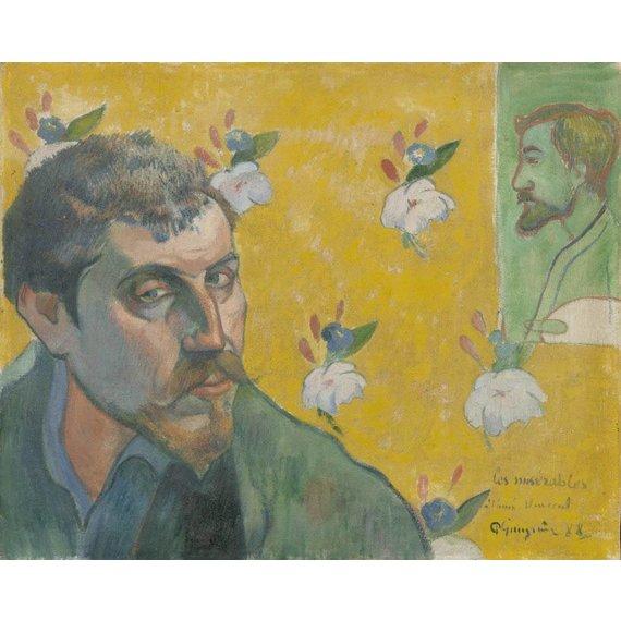 Self-Portrait with Portrait of Émile Bernard (Les misérables) - Card / A4 reproduction