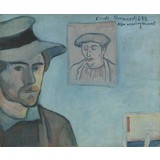 Self-Portrait with Portrait of Gauguin 1888, Émile Bernard - Multimedia, Film and Video