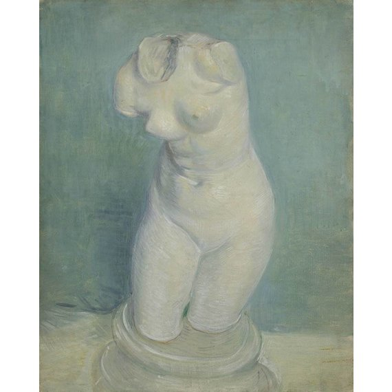 Plaster Cast of a Woman's Torso - Card / A4 reproduction