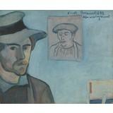 Self-Portrait with Portrait of Gauguin 1888, Émile Bernard - Card / A4 reproduction