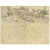 Letter to Theo van Gogh (with letter sketches Daubigny's Garden, Wheatfields, Thatched Cottages and Figures and Wheatfields) - Card / A4 reproduction