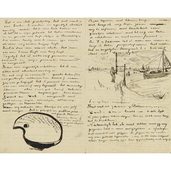 Letter to Theo van Gogh (with letter sketches Van Gogh's Palette and Beach at Scheveningen with Perspective Frame) - Book / Magazine / Flyer