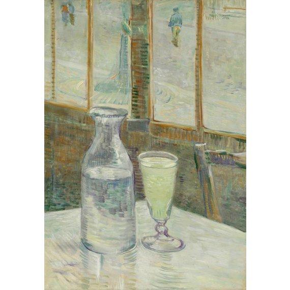 Café Table with Absinthe - Card / A4 reproduction