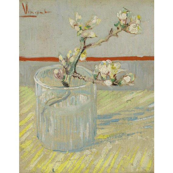 Sprig of Flowering Almond in a Glass - Book / Magazine / Flyer