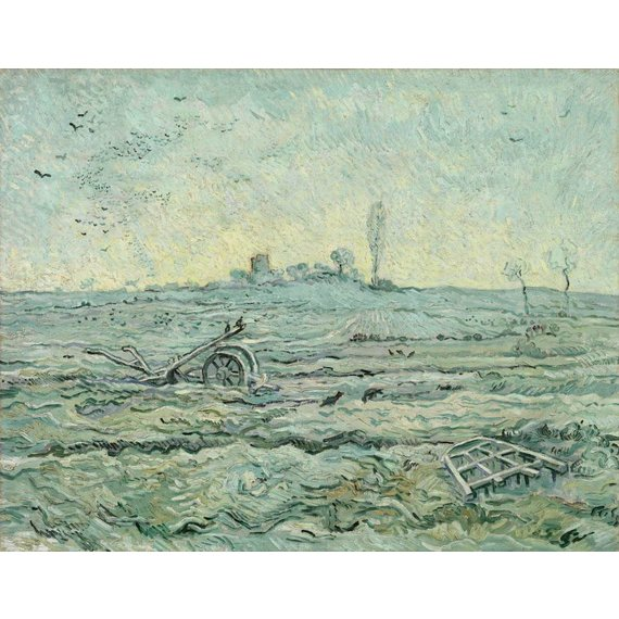 Snow-Covered Field with a Harrow (after Millet) - Card / A4 reproduction