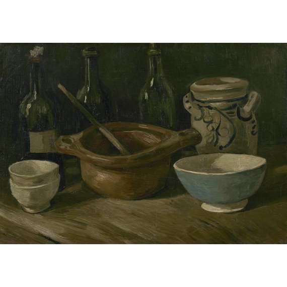Still Life with Earthenware and Bottles - Multimedia / Film / Video